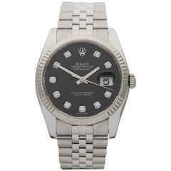 Rolex Datejust Stainless Steel and 18 Karat White Gold Unisex 116234, 2009