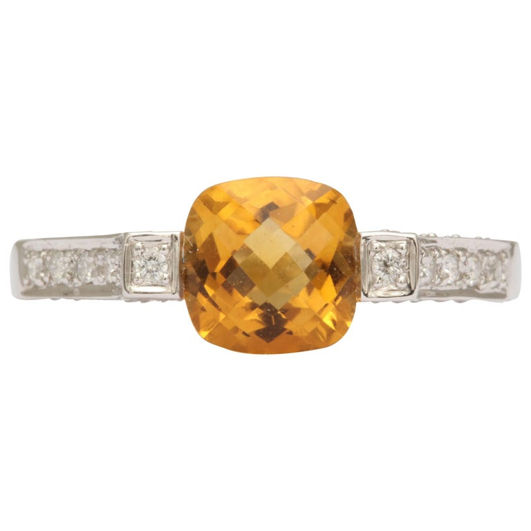 lovely citrine and white gold ring for sale at 1stdibs