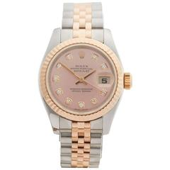 Rolex Datejust Stainless Steel and 18 Karat Rose Gold Ladies 179171, 2007