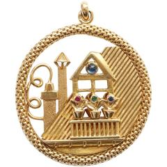 Gold Aubade or Rooftop Pendant