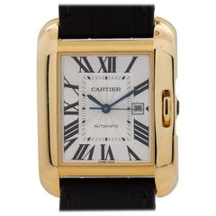 Cartier Yellow Gold Tank Anglaise Automatic Wristwatch Ref 3509, circa 2015