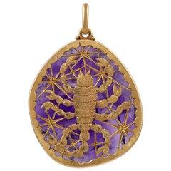 Buccellati Gold and Amethyst Scorpio Pendant
