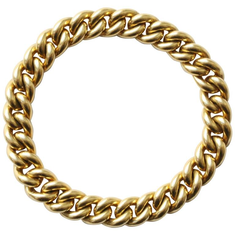 Pomellato Gold Curb Link Bracelet For Sale