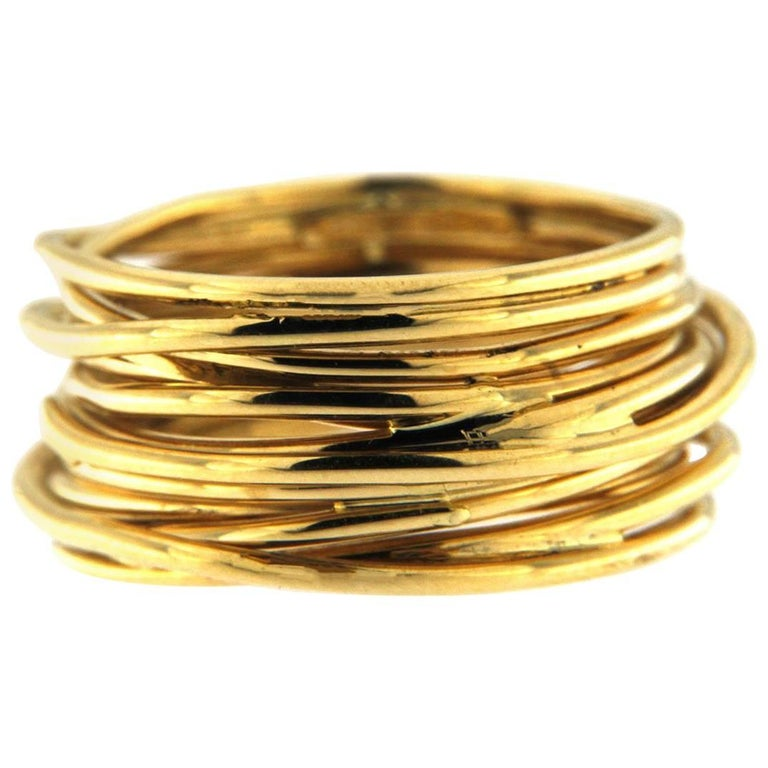 18-karat yellow-gold ring, 21st century, offered by Jona Jewelers