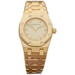 Audemars Piguet Ladies Yellow Gold Royal Oak Quartz Wristwatch, 1986