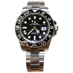 Rolex Stainless Steel GMT-Master II Wristwatch Ref 116710 LN