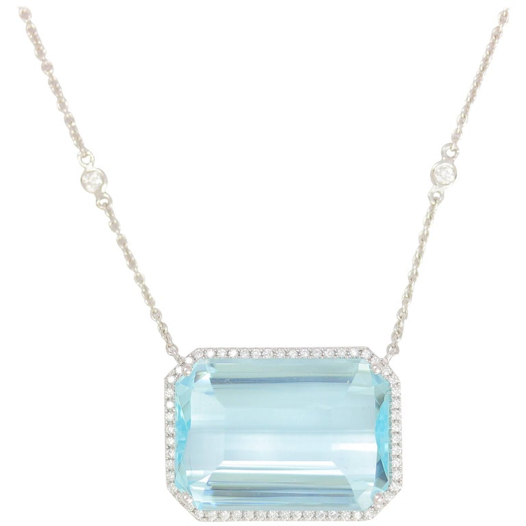 Frederic sage 2944 carat aquamarine diamond pendant necklace at 1stdibs frederic sage 2944 carat aquamarine diamond pendant necklace for sale aloadofball Image collections