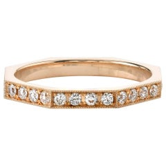 Old European Cut Diamond Eternity Band in 18k Gold