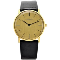 Vacheron & Constantin Yellow Gold Linen Dial Ultra Thin Dress Manual Watch
