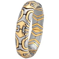Bulgari Alveare Vintage Gold and Stainless Steel Bracelet