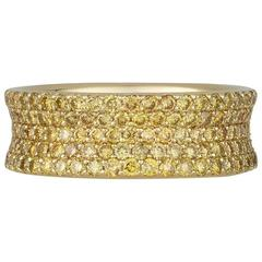 Natural Colored Yellow Diamond Eternity Band