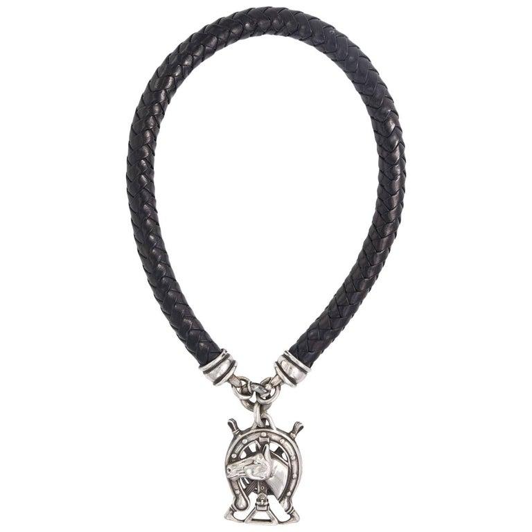 Kieselstein Sterling Equestrian Cord Necklace