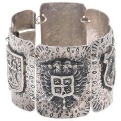 Silver Shield Bracelet