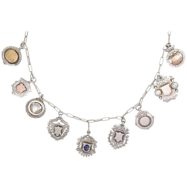 Sterling Medal Necklace For Sale