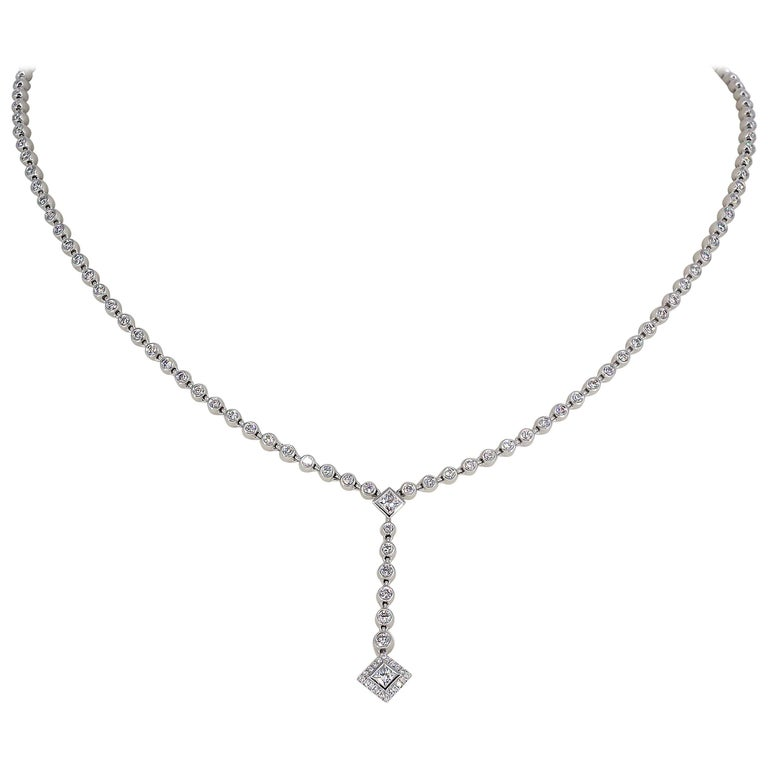 Tiffany & Co. Diamond and Platinum Necklace For Sale