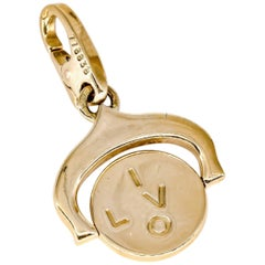 "Cartier ""I Love You"" Yellow Gold Flip Charm"