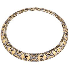Bulgari Alveare Vintage Gold and Stainless Steel Necklace
