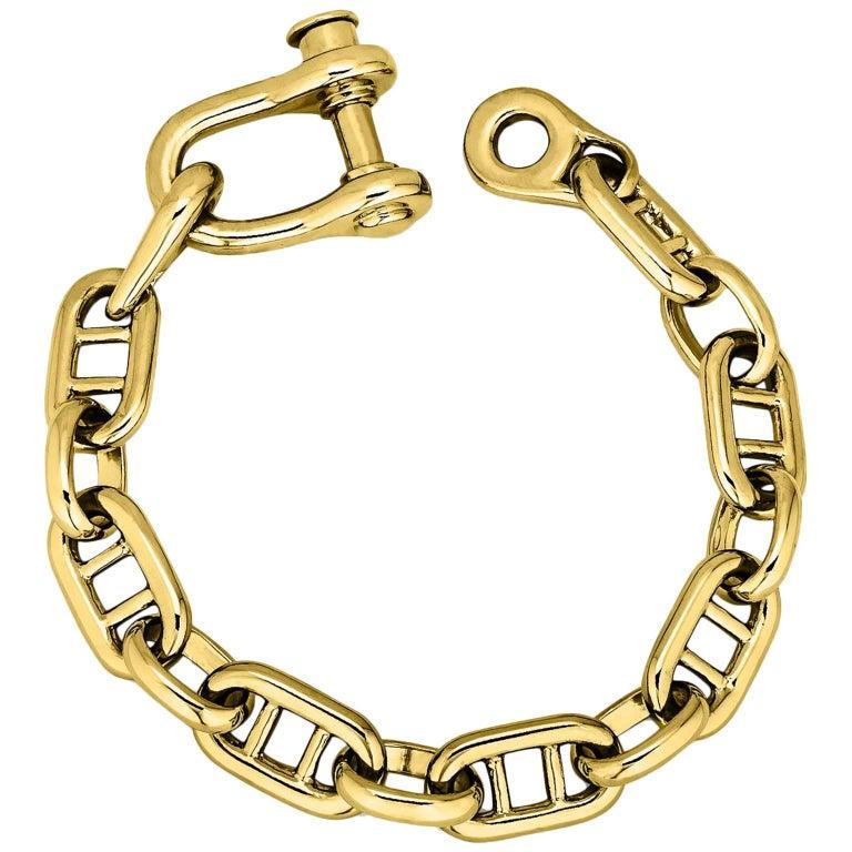 Cartier Gold Nautical Link Bracelet, circa 1975