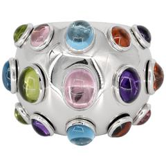 De Grisogono Colored Stone White Gold Dome Ring