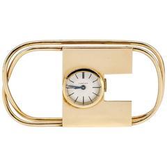 1940s Cartier Yellow Gold Watch Money Clip