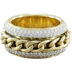 Piaget Diamond Revolving Chain Band Ring