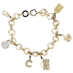 Chanel Mademoiselle Collection Profil de Camelia Bracelet with Six Charms