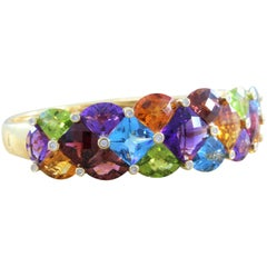 Bellarri Diamond Multi-Color Gemstone Gold Bracelet