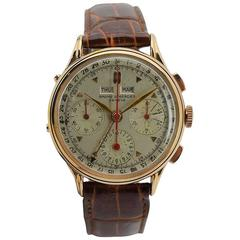 Baume & Mercier by Wakmann Rose Gold Triple Date Chronograph Watch