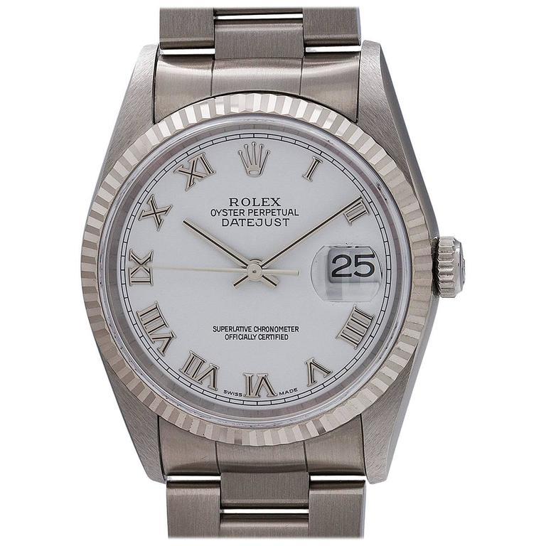 Rolex Stainless Steel Datejust self winding wristwatch Ref 16234, circa 1996 1