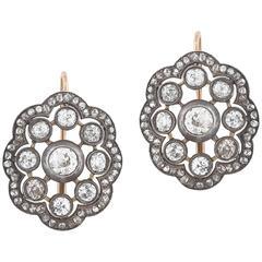 1900s Italian Diamond Earrings