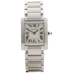 Cartier Tank Francaise Stainless Steel Ladies 2384 or W51008Q3, 2000s