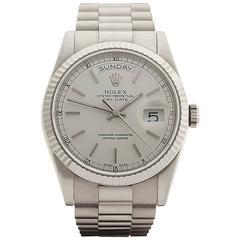 Rolex Day-Date 18 Karat White Gold Unisex 118239, 2006