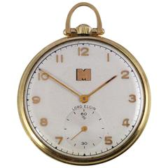 1948 Yellow Gold Lord Elgin Pocket Watch Presented by Monsanto