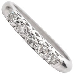 1920s Art Deco .10 Carat Diamond Platinum Wedding Band