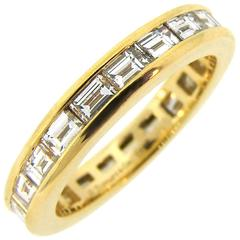 Tiffany & Co. Diamond Yellow Gold Eternity Band Ring
