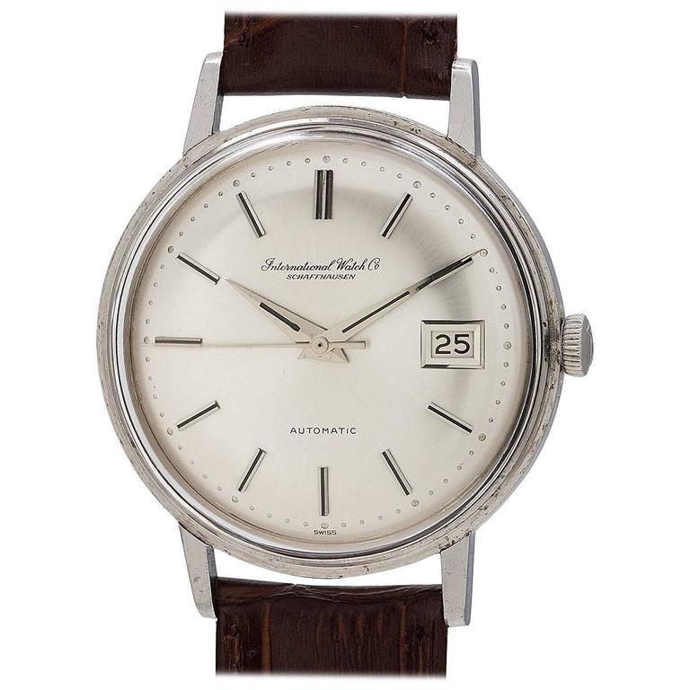 IWC Stainless Steel Date Automatic dress wristwatch, circa 1966