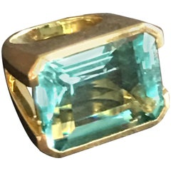Chevalier Ring Topaz Gold