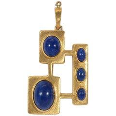 Burle Marx Lapis Lazuli Pendant