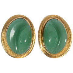 Burle Marx Chrysoprase Forma Livre Earrings