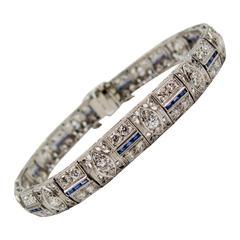 1920s Diamond Platinum Bracelet