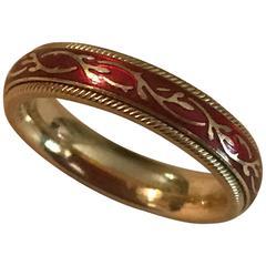 Wellendorrf Enamel gold Ring