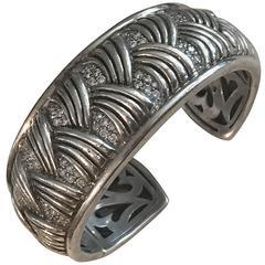 Scott Kay Diamond Sterling Silver Cuff Bracelet