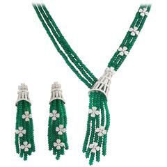 Emerald and Diamond Jewellery Suite