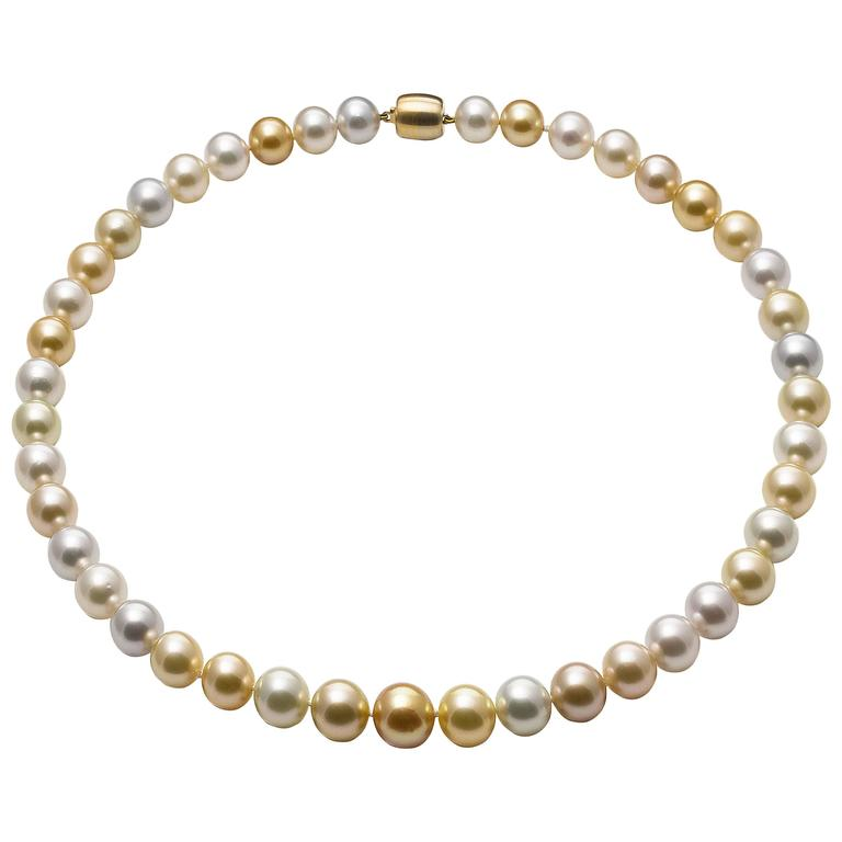 Lust Pearls South Sea Pearl Strand Yellow Gold Clasp