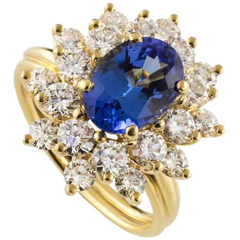 Tiffany & Co. Tourmaline Diamond Yellow Gold Ring