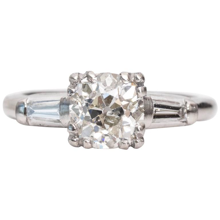 1920s Art Deco 1.14 Carat GIA Certified Diamond Platinum Engagement Ring