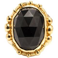 Zaffiro Onyx Ruby Diamond Yellow Gold Ring