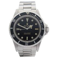 Rolex Submariner Meters First Gilt Gloss Stainless Steel Gents 5513, 1967