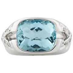 Tiffany & Co. Aquamarine Ring, 5.00 Carat