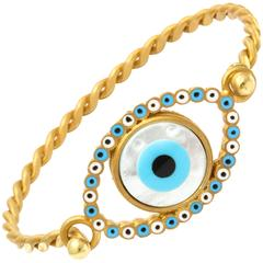 Amedeo Evil Eye Mother-of-Pearl Sterling silver Gold-Plated Bracelet